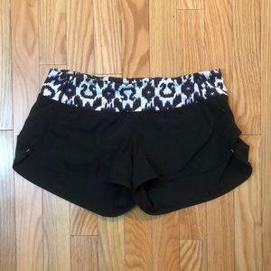 LULULEMON Speed shorts black size 4